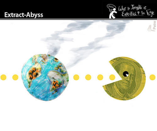 Cartoon: Extract-Abyss (medium) by PETRE tagged amazon,fires,pacman