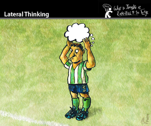 Cartoon: Lateral Thinking (medium) by PETRE tagged football,toughts