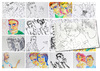 Cartoon: August sketches (small) by PETRE tagged people sketches colour drawings