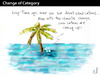 Cartoon: CHANGE OF CATEGORY (small) by PETRE tagged global warming desert island