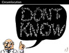 Cartoon: CIRCUMLOCUTION (small) by PETRE tagged knowledge wisdom information science