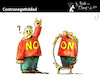 Cartoon: Counter Negativity (small) by PETRE tagged negativity,positivity,mirror,reflex