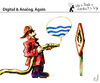 Cartoon: Digital and analog - again (small) by PETRE tagged map,territory