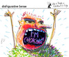 Cartoon: disFigurative Sense (small) by PETRE tagged choking,autoprophecy
