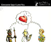 Cartoon: Everyone Says I Love Your (small) by PETRE tagged people,toughts