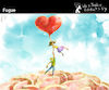 Cartoon: Fugue (small) by PETRE tagged love,toughts,exit