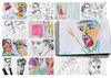 Cartoon: October sketches (small) by PETRE tagged people sketches colour drawings