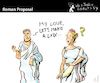 Cartoon: Roman Proposal (small) by PETRE tagged romans 69 sex couples