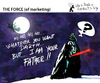 Cartoon: THE FORCE of marketing (small) by PETRE tagged christmas santaclaus gifts