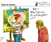 Cartoon: Ways and Shapes (small) by PETRE tagged art naif