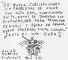 Cartoon: 1-04-2013 (small) by Juli tagged quinpha,trabajo,job,jubilado,retired,desempleo,unemployment