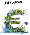 Cartoon: EURO MIKADO (small) by Matthias Stehr tagged euro,europa,financial,crisis,greece
