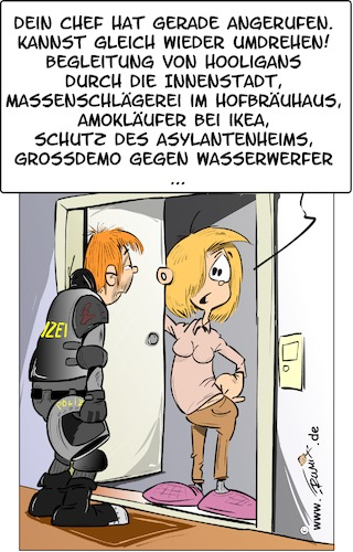 Polizeieinsatz. Same procedure