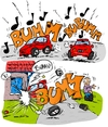 Cartoon: BuBumm - Feel the music (small) by Trumix tagged bumm,mp3,musik,bass,auto,subwoover,player