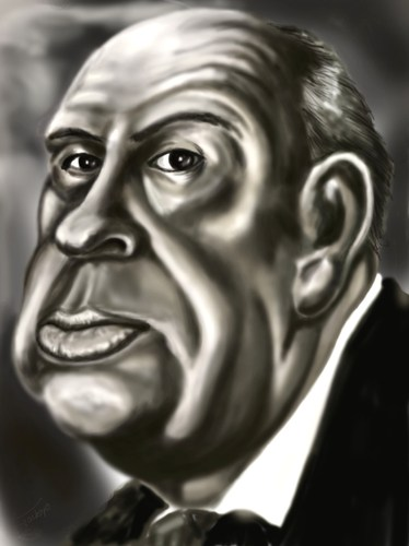 Cartoon: Alfred Hitchkokh caricature (medium) by gartoon tagged hitchkokh,alfred