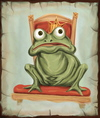 Cartoon: King frog (small) by gartoon tagged king frog