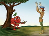 Cartoon: The revenge (small) by gartoon tagged william tell hero apple