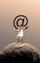 Cartoon: Atlas Internet Gott (small) by Hule tagged medien