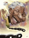 Cartoon: Nelson Mandela (small) by nader_rahmani tagged nelson,mandela