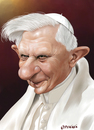 Cartoon: Benedikt XVI (small) by penava tagged karikatur,caricature,benedict,benedikt,papst,pope,katholisch,catholic