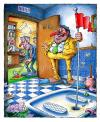Cartoon: French loo 2 (small) by Nick Lyons tagged golf,french,loo,sport,wc,toilet,toilette,france,bar,cafe,joke