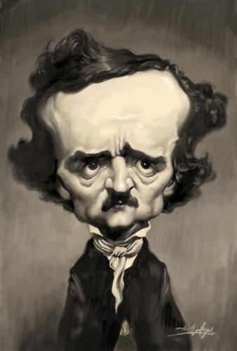 Cartoon: Edgar Allan Poe (medium) by Amir Taqi tagged edgar,allan,poe