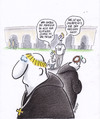 Cartoon: heiliges haar (small) by Petra Kaster tagged religionen,glauben,esoterik,christentum,klöster,mönche,frisuren
