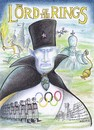 Cartoon: lord of the rings (small) by Petra Kaster tagged putin,scotchi,olympische,spiele,russland,tolkin,herr,der,ringe
