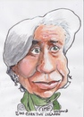 Cartoon: Christine Legarde (small) by jjjerk tagged international monetary fund christine legarde french lawyer green scarf france cartoon caricature