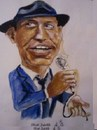 Cartoon: Frank Sinatra (small) by jjjerk tagged cartoon,caricature,frank,sinatra,singer,actor,films,blue,mike,hat,tie