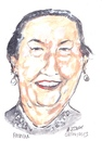 Cartoon: Patricia (small) by jjjerk tagged patricia dublin bell camp art group cartoon caricature earrings portrait