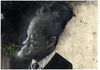 Cartoon: Willy Brandt (small) by Hoppmann tagged willy,brand,bundeskanzler,kanzler,spd,politiker