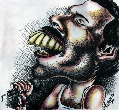 Cartoon: Freddy Mercury (medium) by gogna caricaturas tagged freddy,mercury
