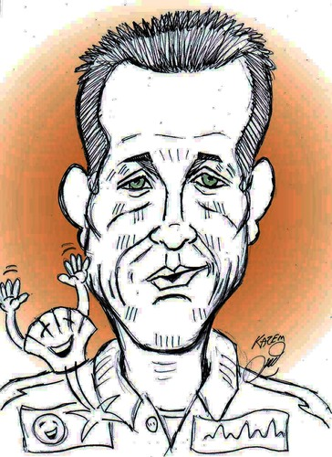 Cartoon: Michael Schumacher (medium) by Hossein Kazem tagged michael,schumacher