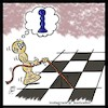 Cartoon: chess (small) by Hossein Kazem tagged chess