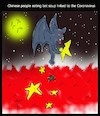 Cartoon: Chinese people eating bat soup (small) by Hossein Kazem tagged bat,soup,coronavirus