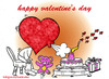 Cartoon: happy valentine (small) by Hossein Kazem tagged happy,valentine