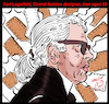 Cartoon: karl lagerfeld (small) by Hossein Kazem tagged karl,lagerfeld