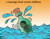 Cartoon: message (small) by Hossein Kazem tagged message