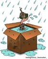 Cartoon: poor in rain (small) by Hossein Kazem tagged poor,in,rain