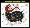Cartoon: woman day (small) by Hossein Kazem tagged woman,day