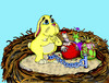 Cartoon: Ceremonial Easter Hunt Sacrifice (small) by DaD O Matic tagged easter,bunny,eggs,hunt,twisted
