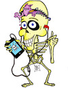 Cartoon: i - Phone Bone (small) by DaD O Matic tagged iphone,skeletons,pirates,brains,tunes,4g