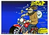 Cartoon: Biker and bird (small) by tonyp tagged arp,biker,motorcycle,scooter,bird