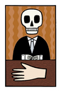 Cartoon: A big hand (small) by baggelboy tagged skull,hand