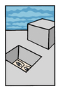 Cartoon: Outside (small) by baggelboy tagged hole