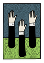Cartoon: Underground (small) by baggelboy tagged hands,stuck
