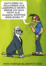 Cartoon: Halloween mit Bruno Lagerfeld (small) by dogtari tagged karl,lagerfeld,halloween,dogtari,bruno,claudia,schiffer,kostüm