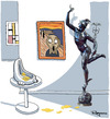 Cartoon: A crisis of art (small) by Marcelo Rampazzo tagged crisis,art,duchamp