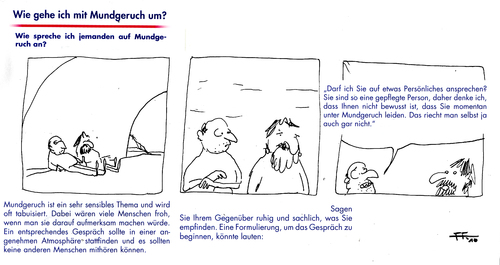 Cartoon: Mundgeruch (medium) by Florian France tagged mauvaise,haleine